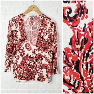 Anne Klein floral paisley cardigan sweater